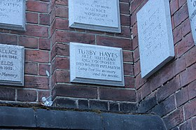 Memorial to Tubby Hayes, Golders Green Crematorium.JPG