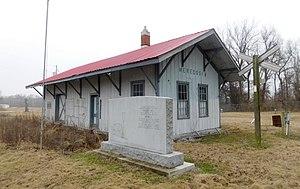 Meredosia, Illinois - Memorial and former train station in Meredosia