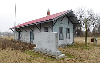 Meredosia, Illinois - Memorial and former train station in Meredosia