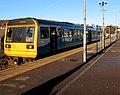 Merthyr Tydfil train in Abercynon station (geograph 6055298).jpg