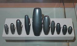 Mesopotamian weights made from haematite.JPG