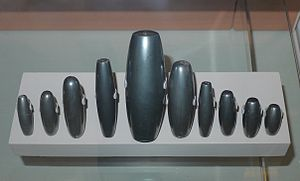 Ancient Mesopotamian units of measurement - A series of old Babylonian weights ranging from 1 mina to 3 shekels
