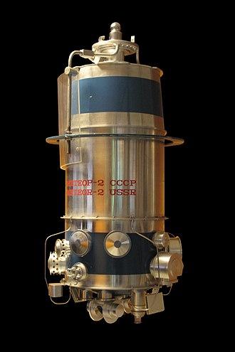 Meteor (satellite) - Model of a Meteor-2 satellite