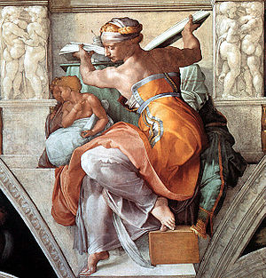 Mannerism - The Libyan Sibyl from Michelangelo's Sistine Chapel ceiling