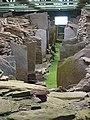 Midhowe Cairn interior - geograph.org.uk - 33776.jpg