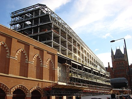 St Pancras Renaissance London Hotel extension under construction Midland Grand Hotel extension 1.jpg