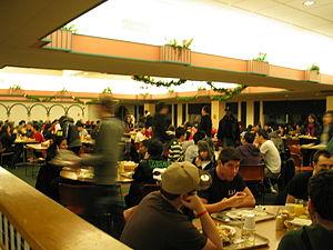 Midnight breakfast - Students eating Midnight Breakfast at Tillett Dining Hall, Livingston Campus, Rutgers University