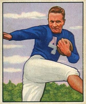 Mike Swistowicz - Swistowicz on a 1950 Bowman football card