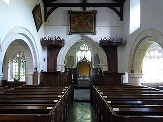 Mildenhall, Wiltshire - St John the Baptist parish church interior