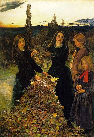 Autumn Leaves (painting) - Image: Millais leaves
