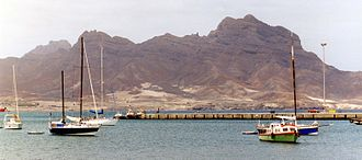 Cape Verde - A view of Monte Cara from Mindelo