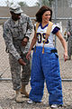Minnesota Vikings cheerleader tour of Iraq goes to the dogs in Baghdad DVIDS281222.jpg