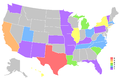 Miss USA map winning states.png