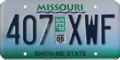 Missouri license plate, September 2006.png