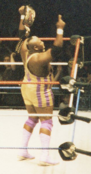 Mo (wrestler) - Mo after winning the WWF World Tag Team Championship with Mabel in 1994.