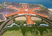 Model of Beijing New Airport at the Five-Year Achievements Exhibition (20171015150600).jpg