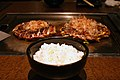 Modern yaki, okonomiyaki and rice by OiMax in Tokyo.jpg