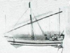 Maritime history of Somalia - Model of a medieval Mogadishan  ship.