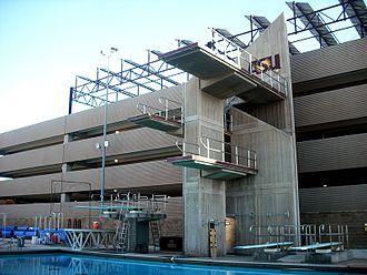 Mona Plummer Aquatic Center - Diving platforms at the Mona Plummer Aquatic Center.
