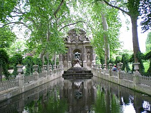 Alphonse de Gisors - The Medici Fountain with Gisor's reflecting pool