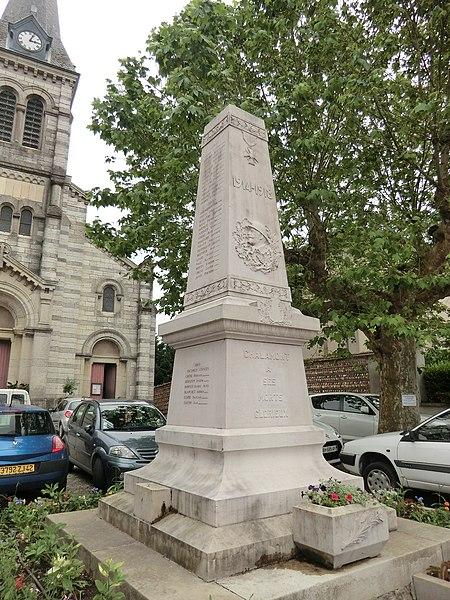 Monument aux morts de Chalamont.