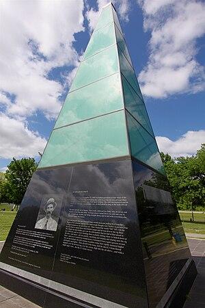 """Glenpool, Oklahoma - Monument in """"Black Gold"""" Park in Glenpool, Oklahoma."""