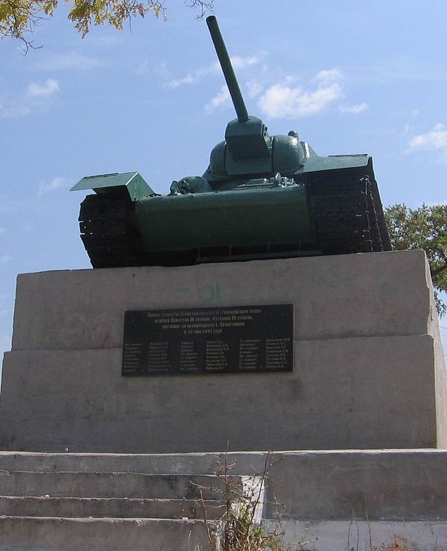 Monument to Soviet Tank Crew Warriors in Sevastopol (T-34)