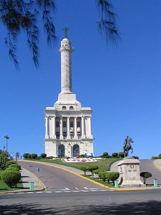 Santiago de los Caballeros - The Monument to the Heroes of the Restoration, as seen in December 2005.