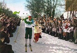 Gevinst i Vasaløbet.   Formodentligt 1953.
