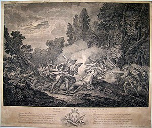 Battle of Kloster Kampen - Image: Mort du chevalier d'Assas