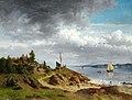 Morten Müller, Norsk kystlandskap med folkeliv, 1857, Museum Kunst der Westküste.jpg