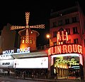Moulin Rouge (nighttime) in Paris, France.jpg