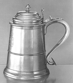 Jeremiah Moulton - Silver Tankard given to Moulton by William Pepperrell after the Siege of Port Toulouse and Louisbourg (1745), Yale University