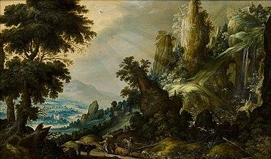 Mountain Landscape with Waterfall - Kerstiaen de Keuninck - Google Cultural Institute.jpg