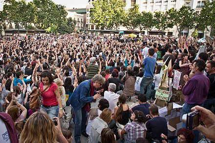 The anti-austerity movement in Spain, May 2011 Movimiento 15M valencia 20-05-2011.jpg
