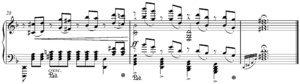 Reduction (music) - Image: Mozart's Lacrimosa Liszt piano reduction end