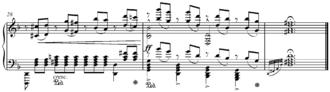 Reduction (music) - Image: Mozart's Lacrimosa Liszt piano reduction end