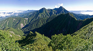 Southern Yatsugatake Volcanic Group - Yatsugatake from Mount Gongen (August 2010)