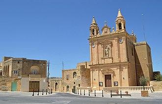 Munxar - View of Munxar parish church and surroundings