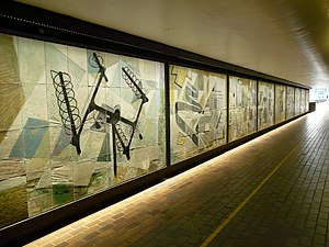 Dorothy Annan - The murals, now relocated to the Barbican