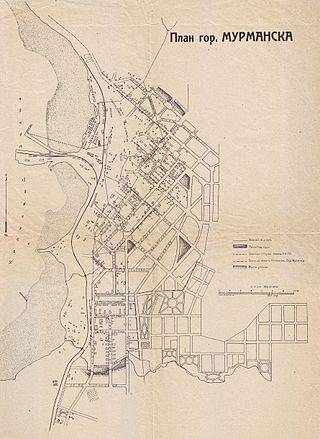 План Мурманска 1928 года