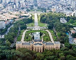 The Museu Paulista and its surroundings.