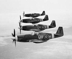 No. 19 Squadron RAF - 19 Sqn. Mustang IIIs in April 1944.