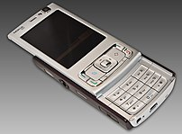 Image showing the Nokia N95 with slide opened