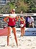 NCAA sand volleyball match at FSU, March 2014 (13944240223).jpg
