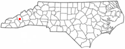Location of Lake Junaluska, North Carolina