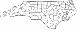 Location of Scotland Neck, North Carolina