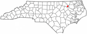 Scotland Neck, North Carolina - Image: NC Map doton Scotland Neck