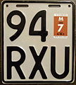 NEW ZEALAND 1992 Motorcycle plate WHITE base - Flickr - woody1778a.jpg