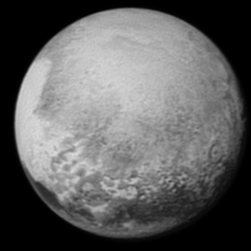 Pluto fotograferad av New Horizons (12 juli 2015)